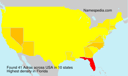 Surname Adras in USA