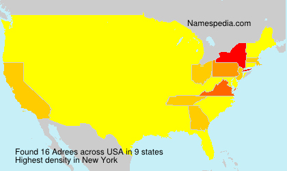 Surname Adrees in USA