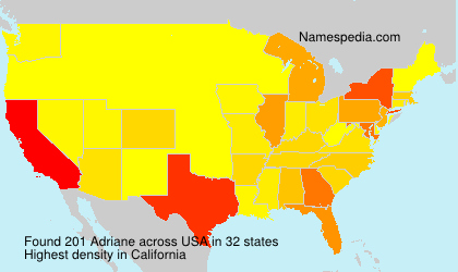 Familiennamen Adriane - USA