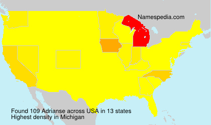 Surname Adrianse in USA