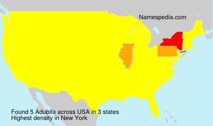 Familiennamen Adubifa - USA