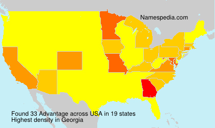 Familiennamen Advantage - USA