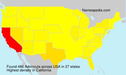 Surname Advincula in USA