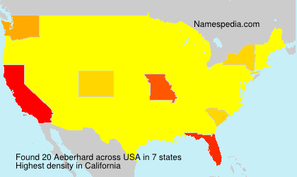 Surname Aeberhard in USA