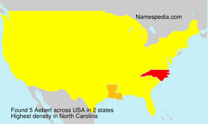 Surname Aebert in USA