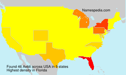 Surname Aebli in USA