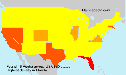 Surname Aecha in USA