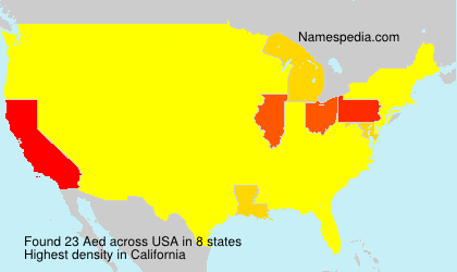 Surname Aed in USA