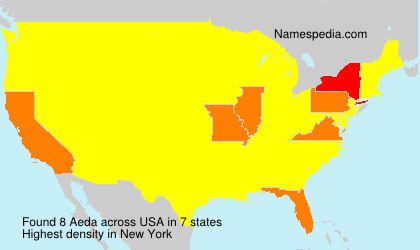 Surname Aeda in USA