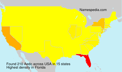 Surname Aedo in USA