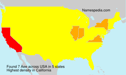Surname Aee in USA
