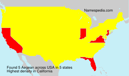 Surname Aegean in USA