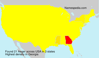 Surname Aeger in USA