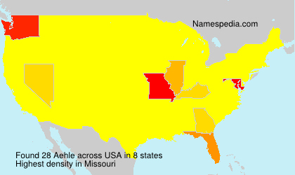 Surname Aehle in USA