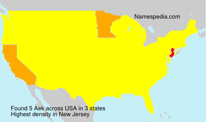Surname Aek in USA