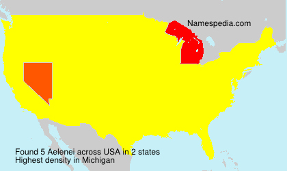 Surname Aelenei in USA
