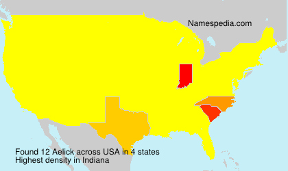 Surname Aelick in USA