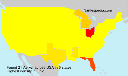 Surname Aelker in USA