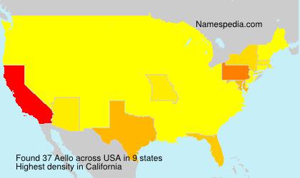 Familiennamen Aello - USA