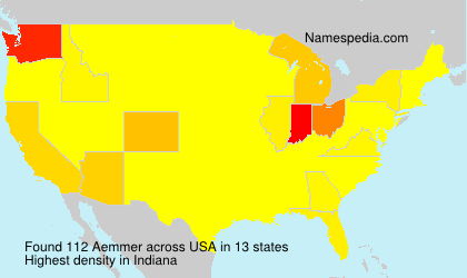 Surname Aemmer in USA
