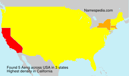 Surname Aeng in USA