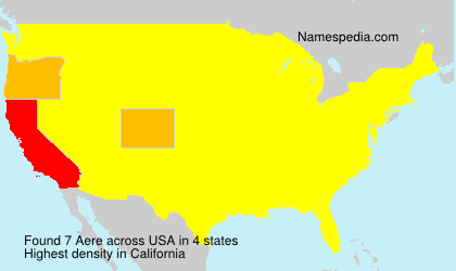 Surname Aere in USA