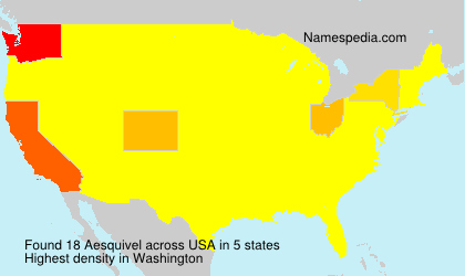 Surname Aesquivel in USA