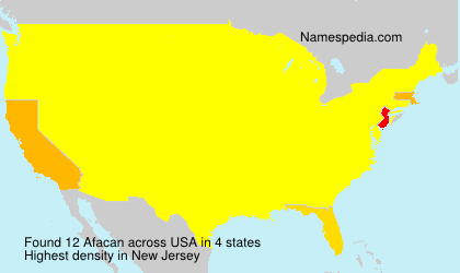 Surname Afacan in USA