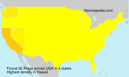 Surname Afaga in USA
