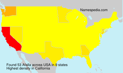Surname Afalla in USA