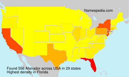 Surname Afanador in USA