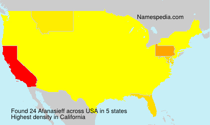 Surname Afanasieff in USA