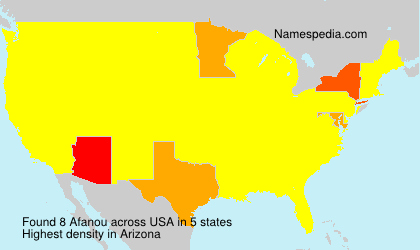 Surname Afanou in USA