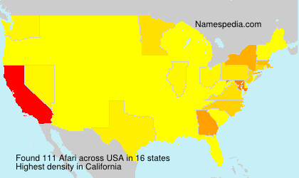 Surname Afari in USA