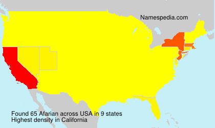 Surname Afarian in USA