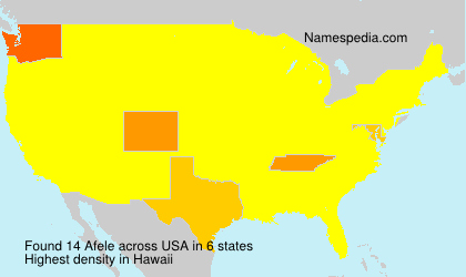 Surname Afele in USA