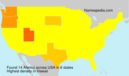 Surname Afemui in USA