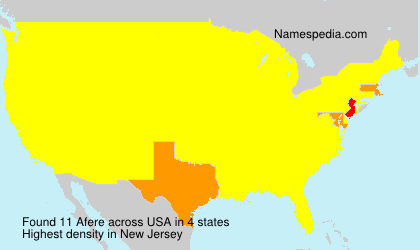 Surname Afere in USA