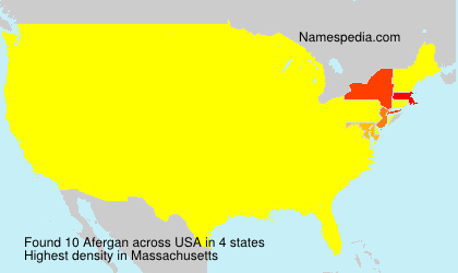 Surname Afergan in USA
