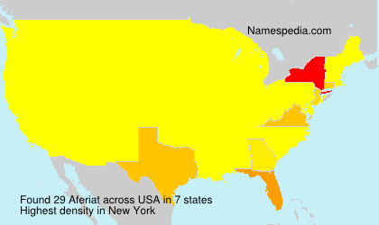 Surname Aferiat in USA