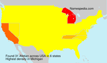 Surname Afetian in USA