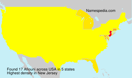Surname Afiouni in USA
