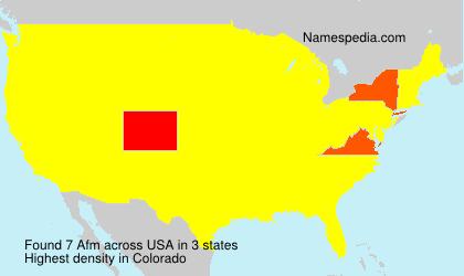 Familiennamen Afm - USA