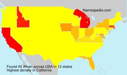 Surname Afnan in USA