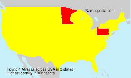 Familiennamen Afrassa - USA