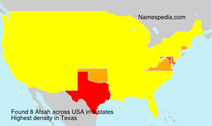 Familiennamen Afsah - USA
