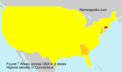 Surname Afsary in USA
