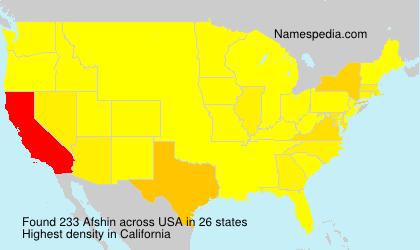 Familiennamen Afshin - USA