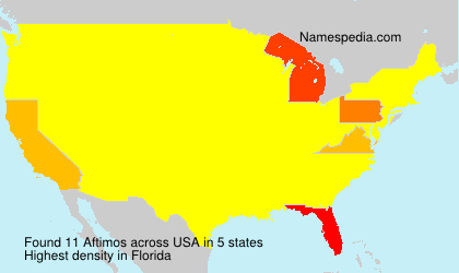 Surname Aftimos in USA