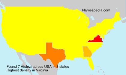 Surname Afulezi in USA